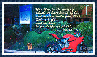Walk In His Light Print by Terry Wallace