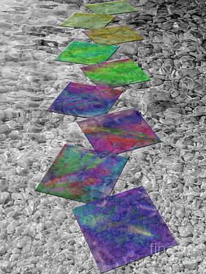 Abstract Digital Art Digital Art - Walk Over The Rainbow by Klara Acel