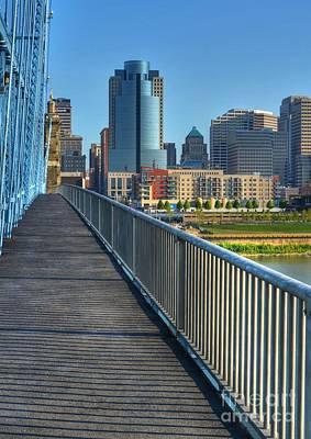 Historic Bridge Photograph - Walk To Cincinnati by Mel Steinhauer