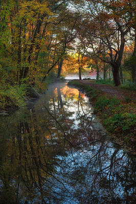Walk To The Pond Print by Michael Blanchette