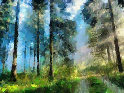 Impressionism Painting - Walk Towards Spring by Georgiana Romanovna