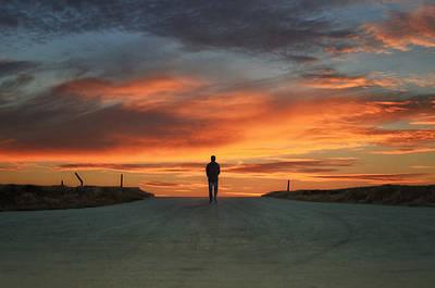 Walk Towards The Light Print by Steven  Michael
