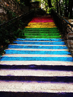Walkin' On Rainbow Print by Lucy D