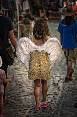 Handcarved Photograph - Walking Angel by Dobromir Dobrinov