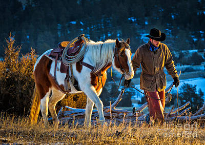 Wyoming Photograph - Walking Home by Inge Johnsson