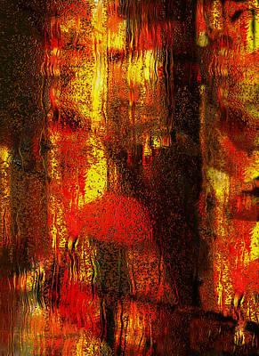Walking In The Rain Print by Jack Zulli