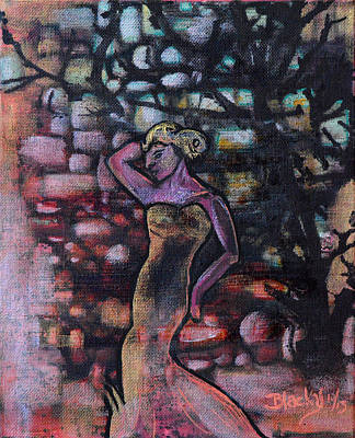 Gown Mixed Media - Walking Into The Twilight by Donna Blackhall