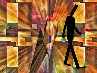 Walking Man Print by Robert Maestas