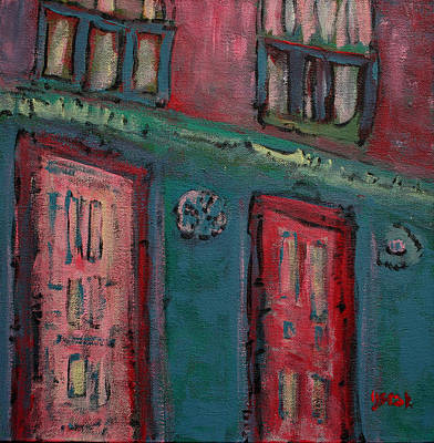 Painting - Walking by Oscar Penalber