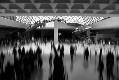 Louvre Digital Art - Walking Shadows by Maria Angelica Maira