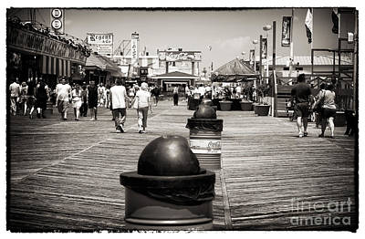 Walking The Boardwalk Print by John Rizzuto