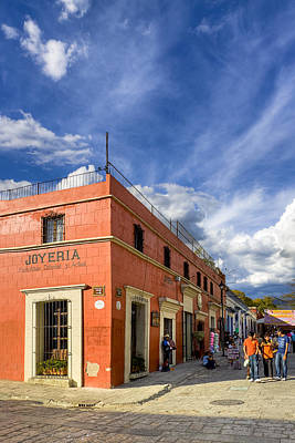 Oaxacan Photograph - Walking The Colorful Streets Of Oaxaca by Mark E Tisdale