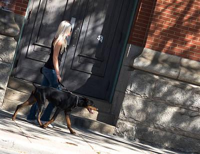 Photograph - Walking The Dog by Edward Kay