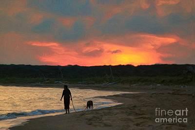 Walking The Dog Digital Art - Walking The Dog by Jeff Breiman