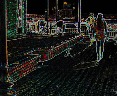 Walking The Dog Digital Art - Walking The Dog by Mechala  Matthews