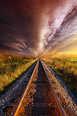 Train Tracks Photograph - Walking The Line Till The Morning Shines by Phil Koch