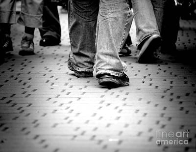 Walking Through The Street Print by Michal Bednarek