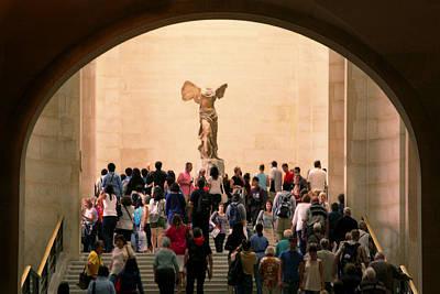 Greek Goddess Nike Photograph - Walking Towards Victory by Joanna Madloch