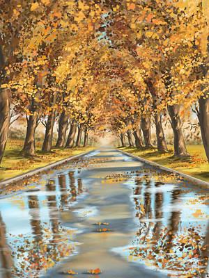 Digital Painting - Walking by Veronica Minozzi