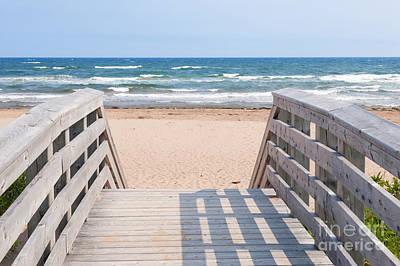 Walkway To Atlantic Beach Print by Elena Elisseeva