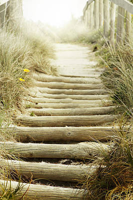 Stairs Photograph - Walkway To Beach by Les Cunliffe