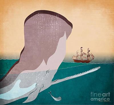 Whale Digital Art - Wall 6 by Mark Ashkenazi