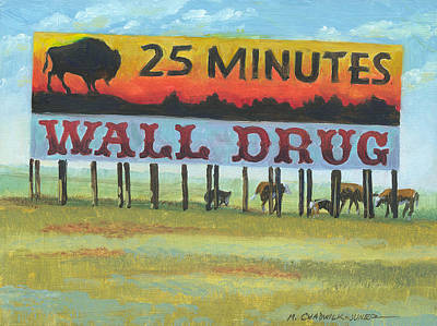 Badlands Painting - Wall Drug Landscape Iv by Marguerite Chadwick-Juner