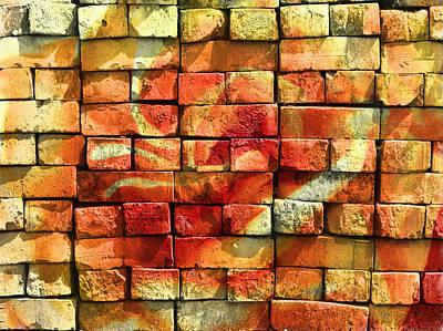 Brick Building Mixed Media - Wall Of Graffiti Abstract by Georgiana Romanovna