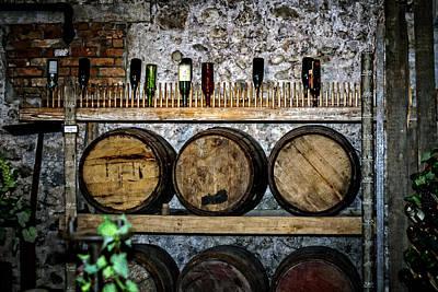 Sake Bottle Photograph - Wall Of Wine by Sennie Pierson
