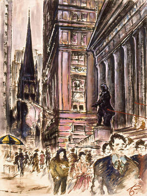 New York Wall Street - Fine Art Print by Art America Online Gallery