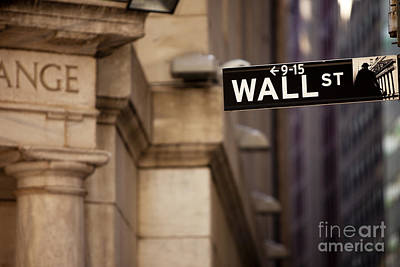 Buy Sell Photograph - Wall Street by Brian Jannsen