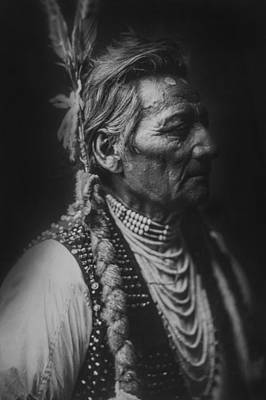 Wrinkled Photograph - Walla Walla Indian Circa 1905 by Aged Pixel