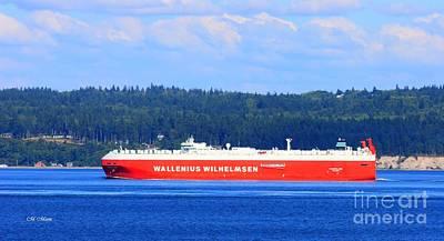 Wallenius Wilhelmsen Logistics Tamerlane Ship Print by Tap On Photo