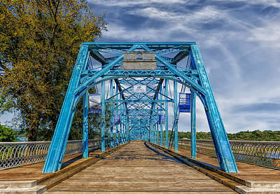 Walnut Street Bridge - 1890 - Chattanooga Print by Frank J Benz
