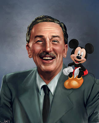 Mouse Painting - Walt Disney Mickey Mouse Partners by Jennifer Hickey