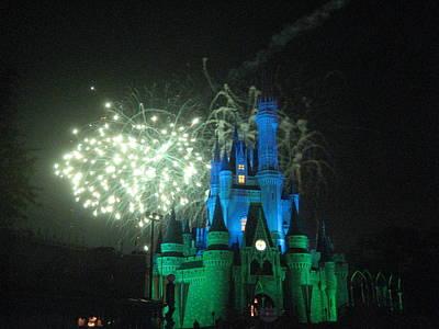 Walt Disney World Resort - Magic Kingdom - 121218 Print by DC Photographer