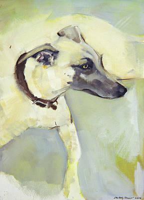 Greyhound Painting - Walter by Sally Muir