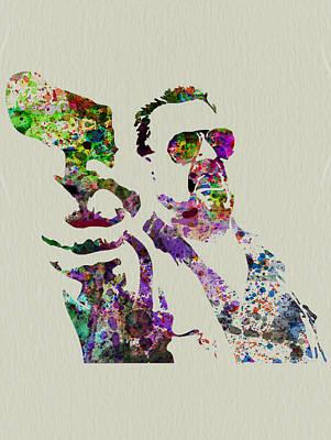 Famous Mixed Media - Walter Big Lebowski  by Naxart Studio