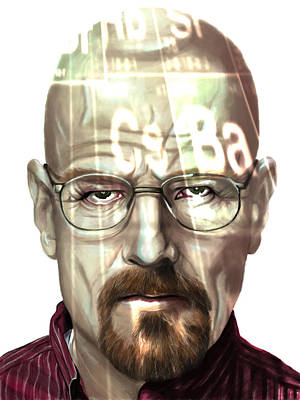 Walter White 2 Print by Jamie Bishop