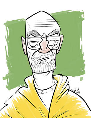 Walter White Aka Heisenberg From Breaking Bad Print by Andrew Mok