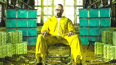 Chemistry Painting - Walter White As Heisenberg Painting by Gianfranco Weiss
