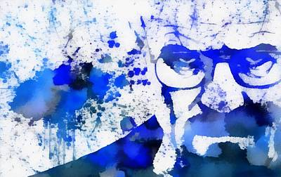 Drama Mixed Media - Walter White Blue Sky by Dan Sproul