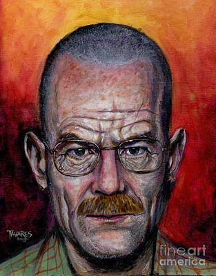 Caricature Painting - Walter White by Mark Tavares