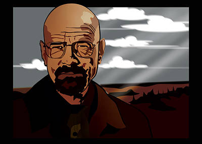Walter White Print by Sandi Fender