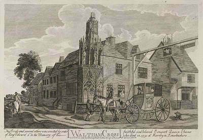 Waltham Photograph - Waltham Cross by British Library
