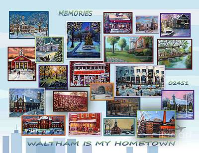 Waltham Painting - Waltham Is My Hometown by Rita Brown