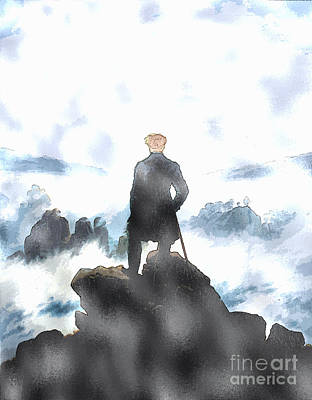 Caspar Painting - Wanderer Above The Sea Of Fog by Celestial Images