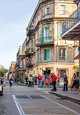 Nola Photograph - Wandering In The French Quarter by Steve Harrington