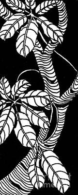 Wandering Leaves Octopus Tree Design Print by Mukta Gupta