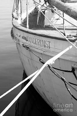 Wanderlust Black And White Print by Amanda Barcon